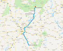 Route - 139 Meilen (Google Maps)