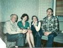 Andrey Sakharov, Tatiana Turchina, Elena Bonner, Valentin Turchin.