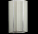 PLT-6001 Semi Frameless Diamond Splayed Pivot Door Showerscreen 1950mm high. Available in 900mm, 1000mm