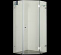 PLT-2001 Frameless Diamond Splayed Showerscreen 1950mm high. Available in 900mm, 1000mm, 1100mm