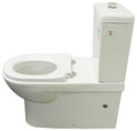Ambulant / Assisted Living Back to Wall Toilet Suite P/S Trap 90-280mm with white or grey toilet seat and raised flush button