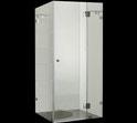 PLT-1001 Frameless Square Showerscreen 1950mm high. Available in 800mm, 900mm, 1000mm, 1100mm, 1200mm