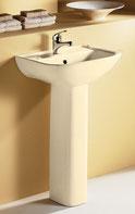 Lara Wall Basin & Pedestal - Ivory