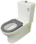 Ambulant / Assisted Living Back to Wall Toilet Suite P/S Trap 90-280mm with grey toilet seat and raised flush button