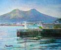森漁港と北海道駒ヶ岳