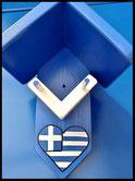 Pindakaas pot houders , Grieks blauw, Griekse vlag, blauw-wit