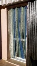 rideau à lames en voile