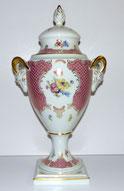 Sehr große Urnenvase m. Deckel,Lindner Porz.,Gold,Widderköpfe,Princess Rose,56cm , € 280,00
