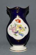 Lichte Porzellan, Echt Kobalt, Vase, Blumenmedaillon, 17,5 cm, , € 65,00