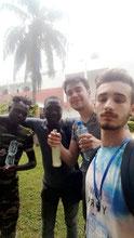 Valentin, Teo, Tchelo et Sena à Kpalimé