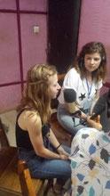 Juliette FURET et Josephine SERRANO à une émission radio