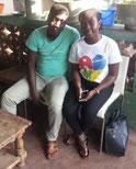 De séjour à Lomé, Marie d'ALMEIDA, coordinatrice de AIME-FRANCE en visite à AJH-TOGO
