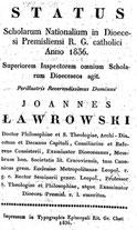 Status Scholarum Nationalium in Dioecesi Premisliensi