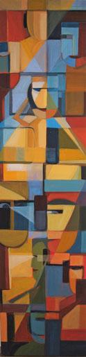 Vernetzt, Acryl auf Leinwand, 30 x  120 cm, 2016