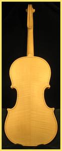 violon blanc dos