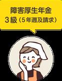 障害厚生年金 3級(5年遡及請求)