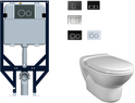 In Wall Cistern with Beta Wall hung pan, WELS 4 star rating, 4.5/3L