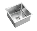 KSS-400 Square Deep Single Bowl Drop in/undermount Kitchen Sink 455x450x235mm