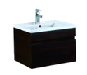 750mm Wall Hung Laminated Finished Vanity - Dark