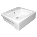 Quado II Semi Recessed Counter Top Basin