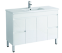 1200mm PVC Vanity on legs with Waterproof Cabinet & Soft closing doors