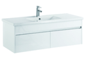 1200mm Single Bowl PVC Wall Hung Vanity with Waterproof Cabinet & Soft closing drawers