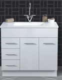 Vanities and cabinets (incl black, red, green, ice, gold glass top)