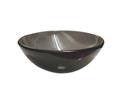 QG04 Round Brown Glass Vessel