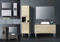 JAZZ vanity (available white/birch/ash grey, legs/kicks, ceramic top/stone top with basin) - 1200mm