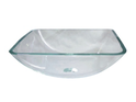 QG09A Square Frosted Glass Vessel