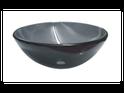 QG03 Round Black Glass Vessel