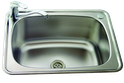 45L Stainless Steel Tub with two by-pass holes