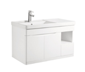 W900 PVC Wall Hung LH side bowl Vanity with Waterproof Cabinet