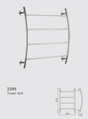 4 Bar Towel Curved Ladder - Model 3395