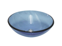 QG10 Round Blue Glass Vessel