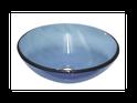 QG10 Round Blue Glass Vessel