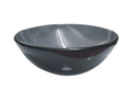QG03 Round Black Glass Vessel