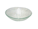 RR01 Round Heat Melted Clear Vessel