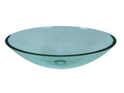 QG12A Oval Frosted Glass Vessel
