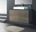 JAZZ Wall Hung vanity (available white/birch/ash grey, ceramic top/stone top with basin) - 900mm
