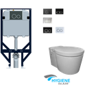 In Wall Cistern with Olix Wall hung pan, WELS 4 star rating, 4.5/3L