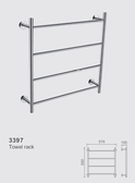 4 Bar Towel Ladder - Model 3397