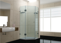 KSD1010 Frameless Diamond Splayed Showerscreen 1000x1000x1950mm