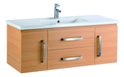 1200mm Wall Hung Laminated Finished Vanity - Light