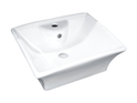 7017 Rectangle Counter Top Basin 1TH