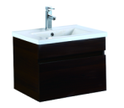 600mm Wall Hung Laminated Finished Vanity - Dark