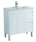 900mm PVC Vanity on legs with Waterproof Cabinet & Soft closing doors