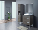 JAZZ vanity (available white/birch/ash grey, legs/kicks, ceramic top/stone top with basin) - 750mm