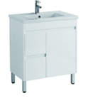 750mm PVC Vanity on legs with Waterproof Cabinet & Soft closing doors