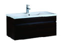 900mm Wall Hung Laminated Finished Vanity - Dark